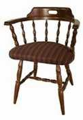 Old Dominion Wood Products Captains Chair W Upholstered