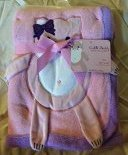 "Pink Applique ""Kitty"" Baby Blanket"