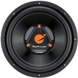 Planet Audio Tq10 10-Inch Poly Injection Cone 4-Ohm Single Voice Coil Svc Subwoofer (Black)