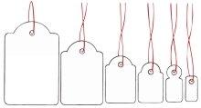 HERMA - étiquettes pour textile, 15 x 24 mm, avec fil rouge, carton blanc, pour l'étiquetage des pri