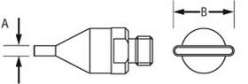 Weller Hot Gas Nozzle - Flat Hot Gas Nozzle - 0.059 x 0.394 in Tip Width - Flat Tip Shape - 0058727773 [PRICE is per EACH]