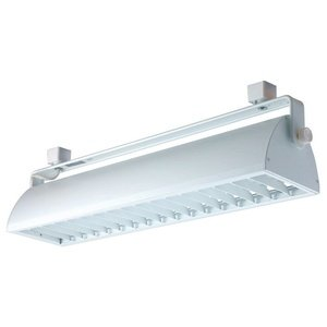 Jesco Lighting HCF240WW Contempo Series Compact Fluorescent Track Head for H 3-Wire Single Circuit Track System with White Fixture and White Louver
