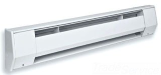 King 240-Volt Convection Baseboard Heater, Bright White