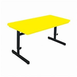 Buy Low Price Comfortable Correll Rcsa2448-23 Blow-Molded Plastic Top Computer and Training Tables Adjustable Height Computer Station – Grey Granite (B003XUS3Y4)
