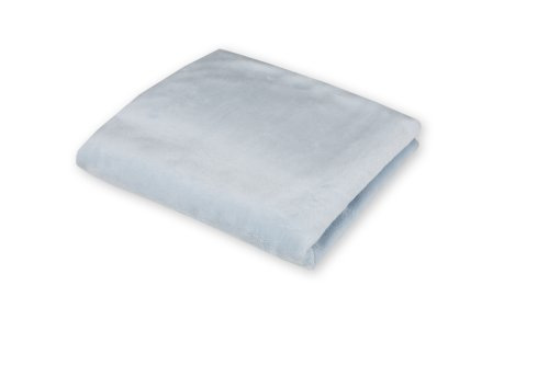 Imagen de American Baby Compañía Celestial Chenille Soft Porta-Crib Sheet, Azul