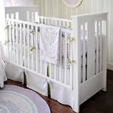 New Arrivals Sweet Violet 4 Piece Crib Set, Lavender/Green