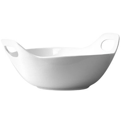15 in. Blanc de Blanc Serving Bowl with Handles (Large White Pasta Serving Bowl compare prices)