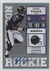 Ed Dickson Baltimore Ravens (Football Card) 2010 Playoff Contenders #136