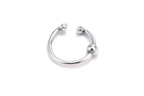 Sterling Silver .925 Ball Design Ear Cuff Wrap Include Special Gift Pouch.