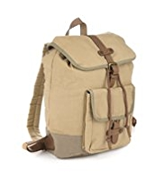 Cotton Rich Two Tone Canvas Rucksack