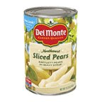 Del Monte Sliced Bartlett Pears in Heavy Syrup, 15.25 oz, 24 pk