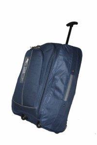 NAVY BLUE 40L Borderline 2 Wheeled Super Lightweight Hand Luggage Holdall Onboard Flight Bag Cabin Suitcase