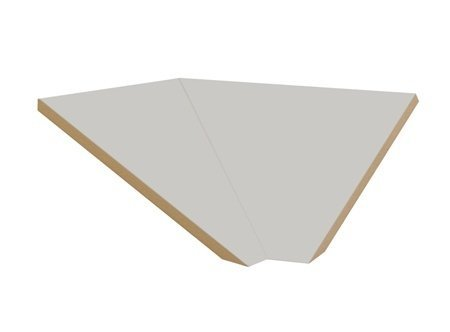 "Sloping Hood Corner Filler Color: Gray, Size: 6.63"" H X 21"" W X 20"" D front-546343"