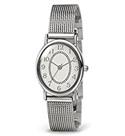 M&S Collection Oval Face Analogue Mesh Strap Watch