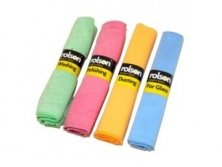 ROLSON 4 PIECE/PACK MICROFIBRE CAR CLEANING CLOTH SET