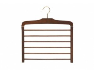 Wooden Pant Hanger 6 Tier Walnut Finish 1 Hanger