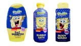 Spongebob Squarepants Ultimate Shampoo, Body Wash, and Bubble Bath Set.