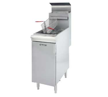 Commercial Deep Fat 45 - 50 lb Fryer Propane Gas LP Floor Model Stainless Steel