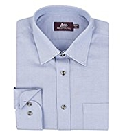 2in Longer Pure Cotton Fine Twill Shirt