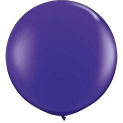 Koyal Wholesale Round Latex Giant Balloon (Pack of 2), 3', Purple - 1