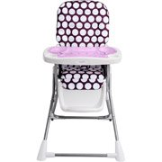 Evenflo Compact Fold High Chair, Polka Dottie Purple