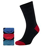 3 Pairs of Comfort & Easy Grip Socks with Silver Technology