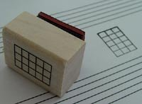 Mini Bass Mandolin Banjo Ukulele Chord Stamp (5 Frets) Rubber Stamp
