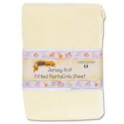 Kids Line Jersey Knit Fitted Porta Crib Sheet - Yellow back-984997