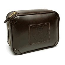 Grooming Lounge Leather Travel Case