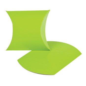 Lime Green Pillow Boxes - Party Favor & Goody Bags & Paper Goody Bags & Boxes