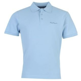 pierre cardin solid polo shirt mens light blue extra lge. Black Bedroom Furniture Sets. Home Design Ideas