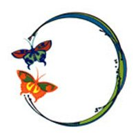 Butterfly Ring Glitter Temporary Tattoo 2x2