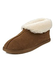 Luxury Shearling Suede Slipper Boots