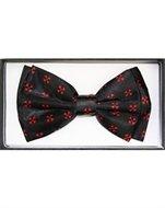 Outer Rebel Red Iron Crosses Black Bow Tie