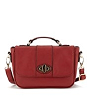 M&S Collection Turn Up Lock Mini Satchel Bag