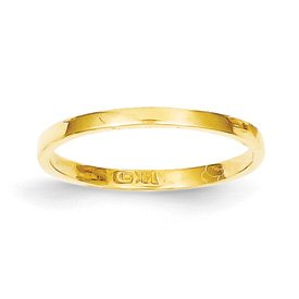 Genuine IceCarats Designer Jewelry Gift 14K High Polished Band Childs Ring Size 3.00