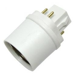 g24 base 4 pin cfl to medium e26 socket adapter industrial. Black Bedroom Furniture Sets. Home Design Ideas
