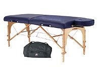 StrongLite - CDP-96 - Classic Deluxe Package Massage Table, Head Rest and Carry Case - Blue - Standard