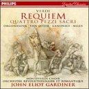 Verdi - Requiem · Quattro pezzi sacri / Orgonasova · von Otter · Canonici . A. Miles · Gardiner