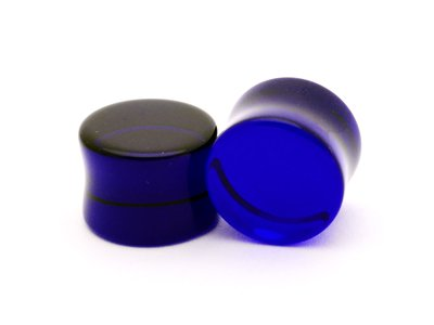Blue Sapphire Glass Plugs - 4G - 5Mm - Sold As A Pair front-730200