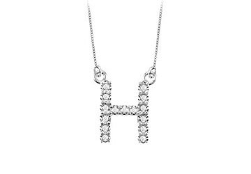 Petite Baby Charm Cubic Zirconia H Initial Pendant .925 Sterling Silver - 0.25 CT TGW MADE IN USA