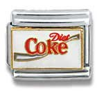 CASA D' ORO Diet Coke Coca Cola # 040 Licensed Authentic Italian Charm CHARM Aleegold