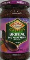 Pataks Brinjal (Egg Plant) Relish 11 Oz