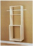 Easy Track RV2072 Closet Hanging Hutch Kit, White (Closet Starter Kit compare prices)