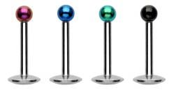 4 bright titanium ball Labret Monroe lip targus body jewelry piercing bar Ring Rings 16g