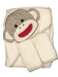Sock Monkey Hooded Towel and 2 Washcloth Set by Baby Starters - Off-White - Not Applicable - 1