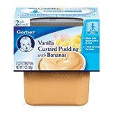 Gerber NatureSelect 2nd Foods Spoonable Smoothies Vanilla Custard Pudding with Bananas -- 2 Pack