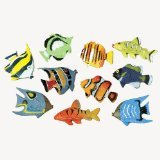 US Toy Assorted Color and Design Tropical Fish Figure Play Set (Lot of 12) - 1