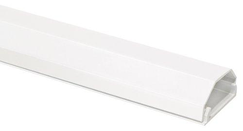 MyWall HZ3-1,1WL Pack de 2 Chemins de câbles en aluminium pour Fixation mural 1100 mm Blanc