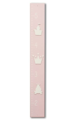Homeworks Etc Princess Growth Chart, Light Pink/White front-60904